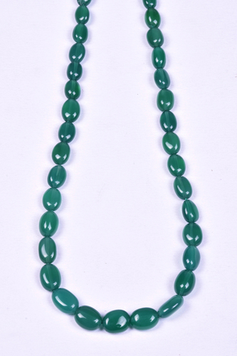 Green Onyx Oval Beads