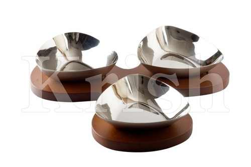 Triangle Bowl Snack Tray set-3 Pcs