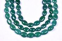 Green Onyx Oval Beads