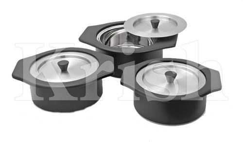 Vista Bowl With Cover - 3 Pcs