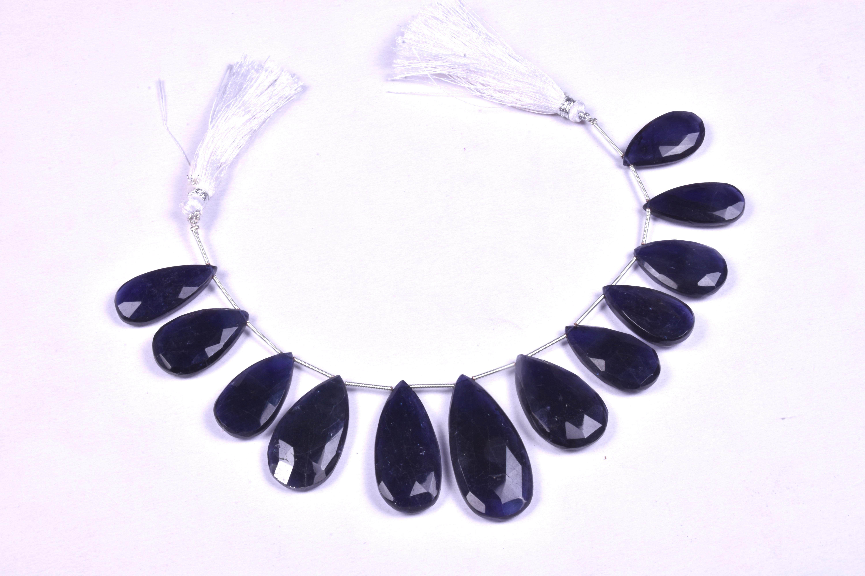 Iolite Pears Beads