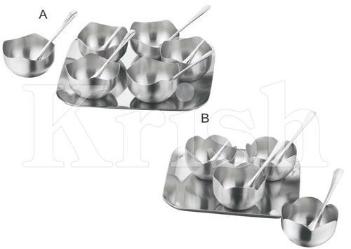 Petal Bowl Snack Tray set- 4 Pcs