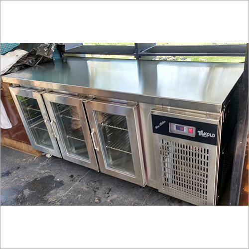 SS Deep Freezer With Glass Door