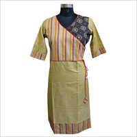 Cotton Half Sleeve Ladies Khadi Kurti