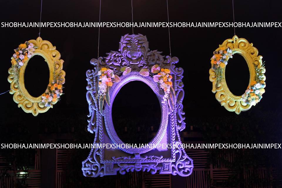 Small Oval Wedding Fiber Frame
