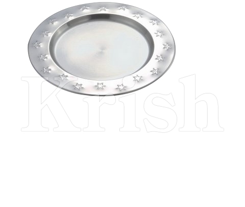 Charger Plate With Star Embossing