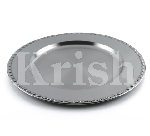 Charger Plate With Shell Embossing