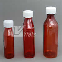 Amber Oval Bottle With Child Resistant Cap