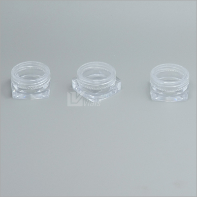 3ml Cosmetic Jar With Square Bottom