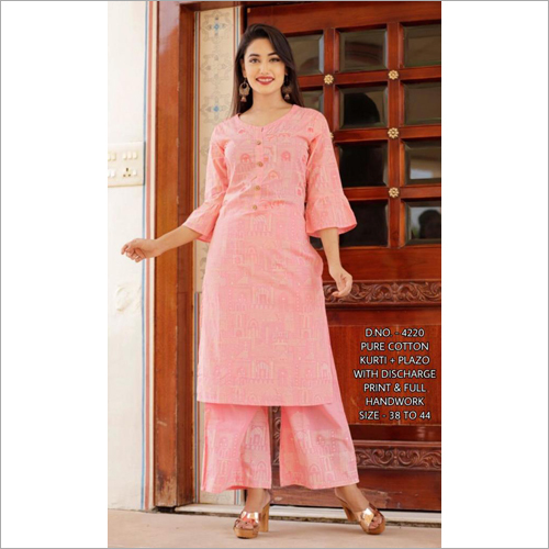 Pure Cotton Kurti Plazo