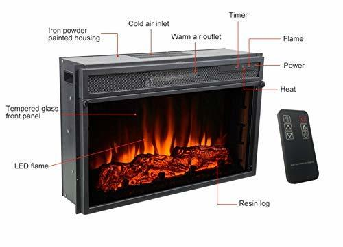 Electric Fireplace Heater with Remote ( 48 x16 x 7 inches )