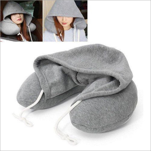 Cotton Grey Travel Neck Pillow