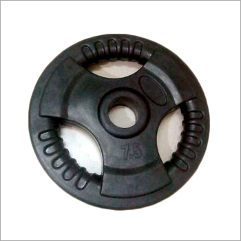 Three Cut Black Weight Plate