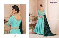 Tussar Silk Designer Long Gown
