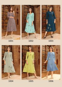 Rayon Viscose With Embroidery Work