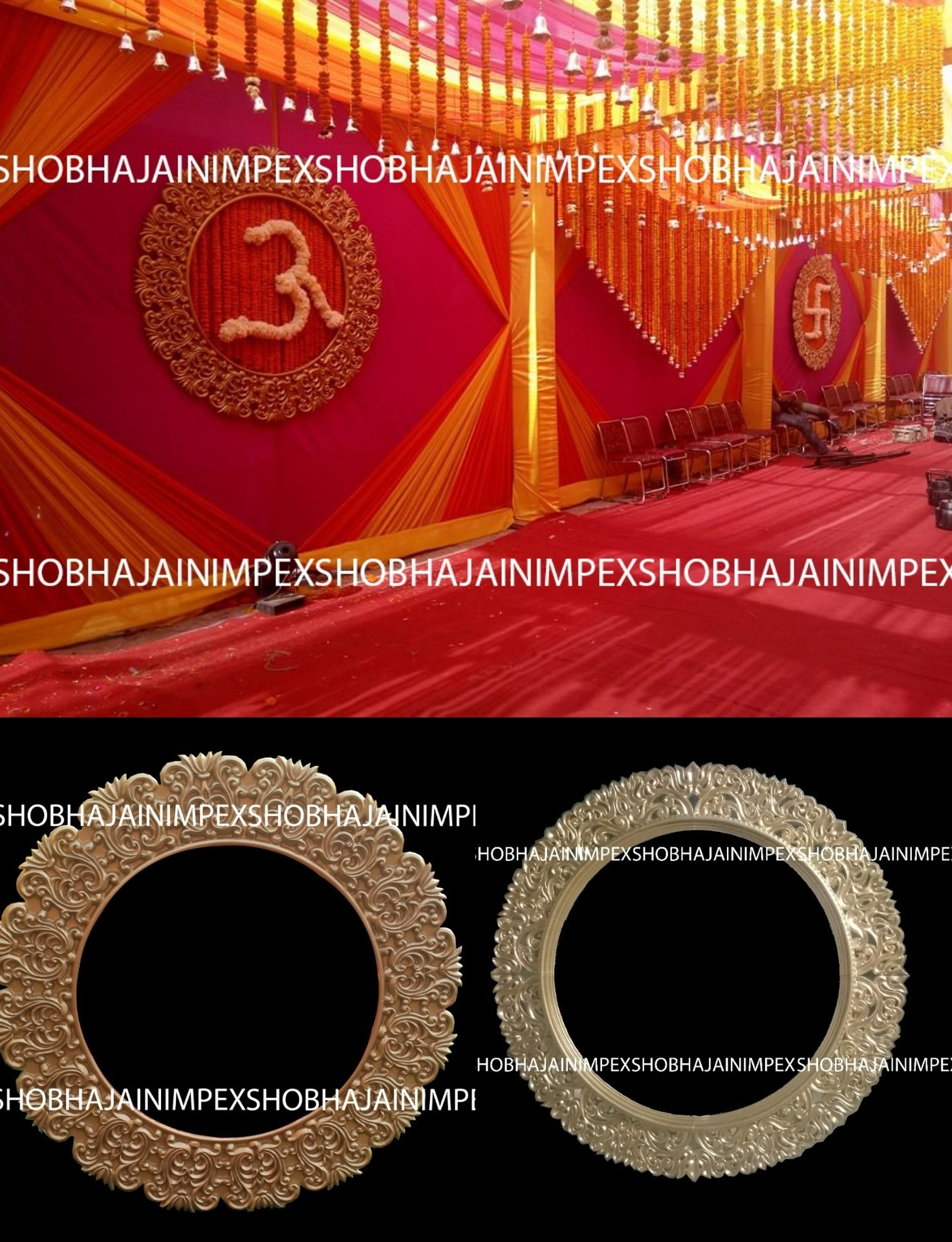 Traditional Asian Wedding Fiber Frame