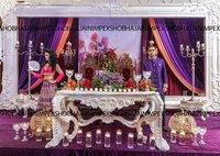 Grand Floral Wedding Fiber Frame