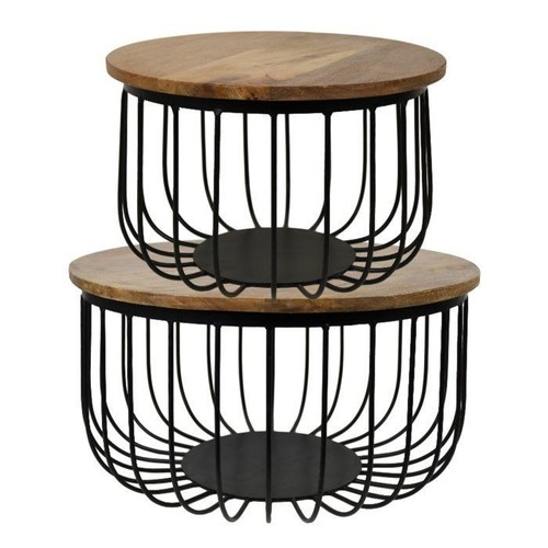 Iron Cage Table Set of 2