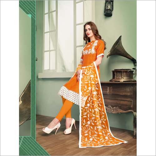 Embroidery Leggings Kurti Set
