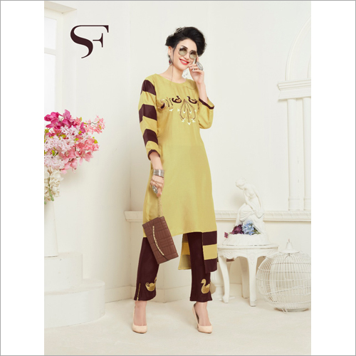 Ladies Fancy Kurti With Pant
