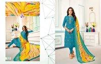 Chanderi Cotton Muslin Silk With Work