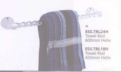 ESS TRL24H - Towel Rod 600mm & 450mm Helix