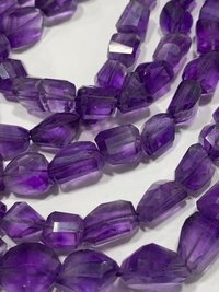 16 Inch Aaa Amethyst Laser Cut Nuggets,9-12mm Amethyst Nuggets,
