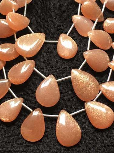Amazing Peach/pink Moonstone Pear Beads7.5/10-12/17mm Approx12.5 Inch Strand