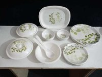 Aaico green 32 pcs melamine dinner set