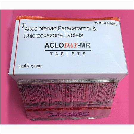 Aceclofenac Paracetamol And Chlorzoxazone Tablet