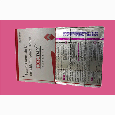 Trypsin Bromelain And Rutoside Trihydrate Tablet