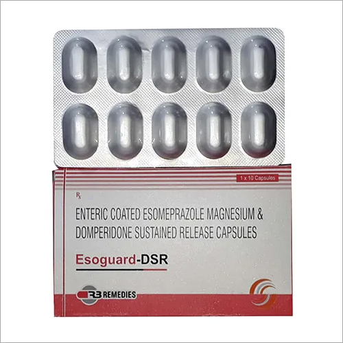 Enteric Coated Esomeprazole Magnesium And Domperidone Sustained Release Capsules