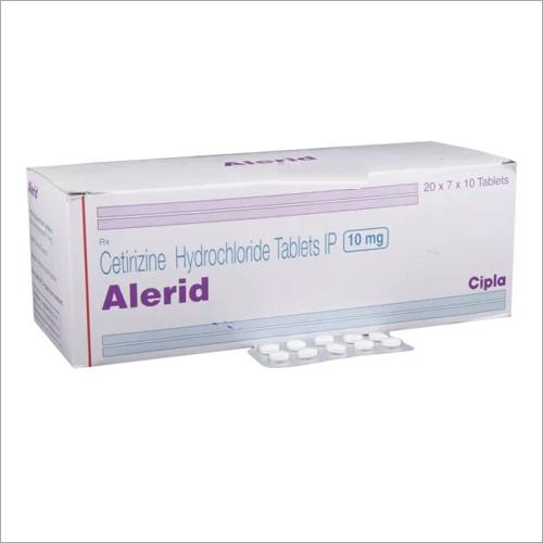 10 Mg Cetrizine Hydrochloride Tablets IP