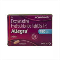 180 Mg Fexofenadine Hydrochloride Tablet IP