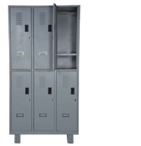 6 DOOR LOCKER WITH PAD LOCK