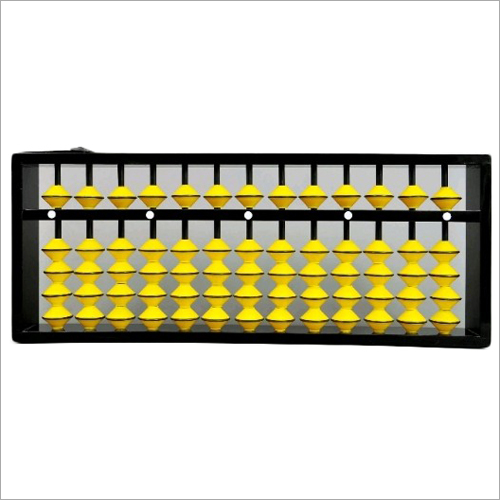 13 Rod Yellow Teacher Abacus with Black Frame