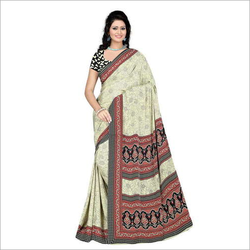 Party Wear Crepe Saree
