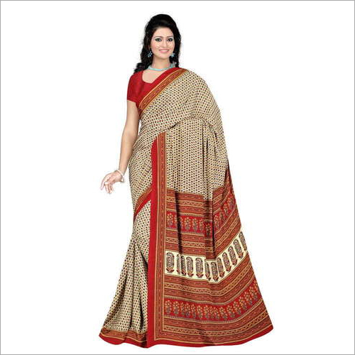 Indian Crepe Printed Saree
