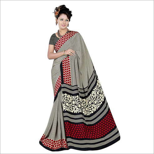Ladies Casual Crepe Saree