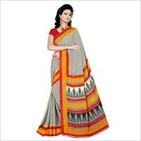 Office Crepe Silk Saree