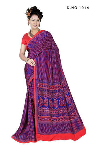 Printed Office Wear Saree
