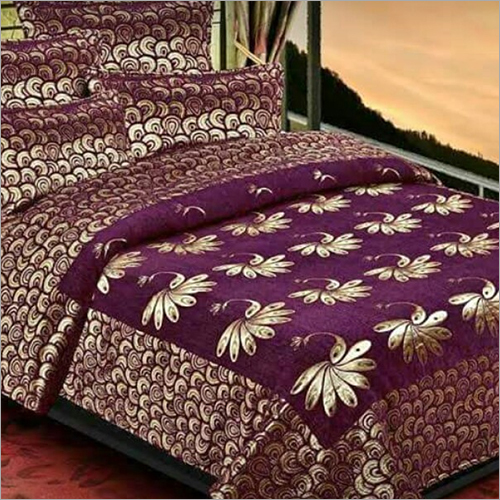 Chenille Printed Bed Cover