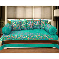 Chenille Printed Diwan Bed Cover