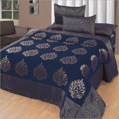 Chenille Printed Double Bed Cover