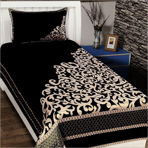 Velvet Printed Bed Sheet