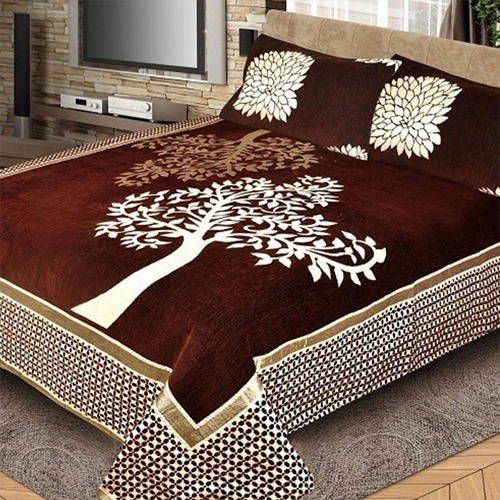 Velvet Designer Bed Sheet