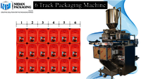 6 Track Pouch Packaging Machine
