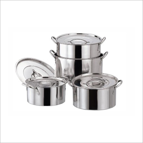 SS Plain Shallow Stock Pot Set