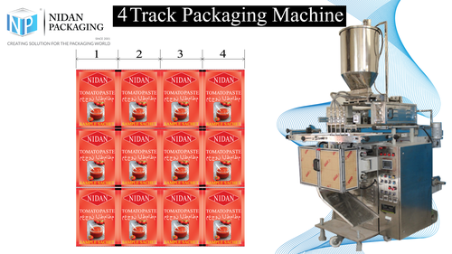 Multi track sauce packaging machine