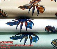 CROWN 100% cotton 60*60 satin floral print